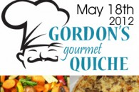 Book Signing: Gordon&#8217;s Quiche Cafe May 18th